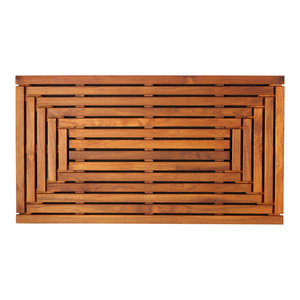 Giza Shower, Spa, Door Mat, Solid Teak Wood and Oiled Finish