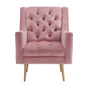 Picket House Furnishings Reese Accent Chair in Blush
