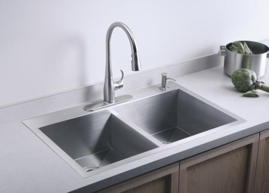 Double Basin Kohler Kitchen Sink   Kitchen Sinks