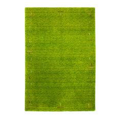Fenth Gabbeh Wool Rug, Green, 300x80 cm