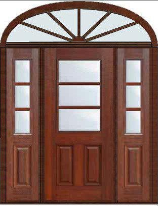 3 Lite Entry Doors