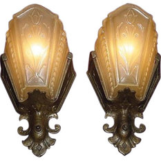 Virden - Consigned Arts and Crafts Wall Sconces by Virden, Set of 2 - Wall