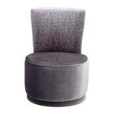 Silver Apostrophe Chair