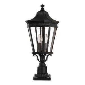 Outdoor Pedestal Light, Black