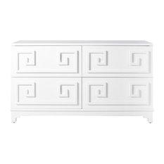 4-Drawer Dresser, White Lacquer