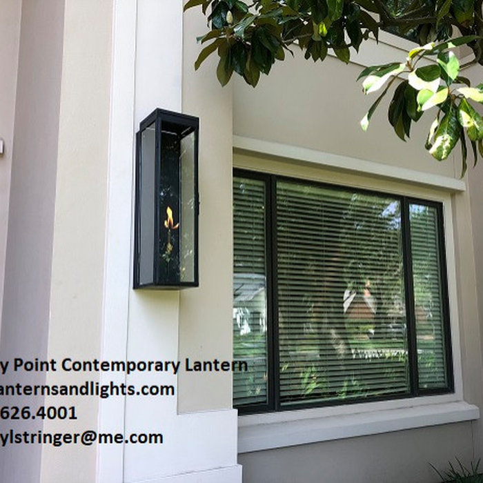 Sheryl's Piney Point Contemporary Gas Lantern