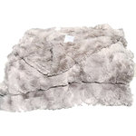 Cozy Faux - Cozy Faux Fur Throw, Gray - Our most lavish Cozy Faux throws have the look and feel of genuine animal fur. We only use the finest fabric available to make our hand-made faux-fur throws. They are the ultimate in thickness and remarkable softness. Decorators love using them to finish a room! Made in the U.S.A.
