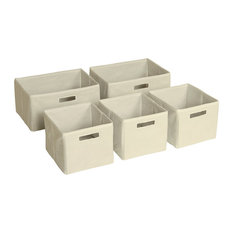 Guidecraft   Storage Bins, Set Of 5, Tan   Storage Bins And Boxes