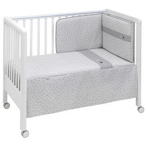Stella 2-Piece Cot Bedding Set, 60x120 cm, Grey