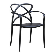 Fine Mod Imports Script Dining Chair, Black