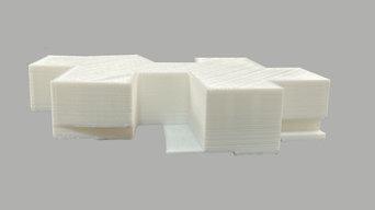 Maqueta de edificio en  impresión 3D