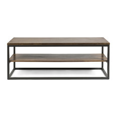 Maxwell Industrial Media Console With Shelves