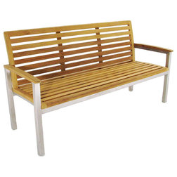 Contemporary Outdoor Benches by Westminster Teak