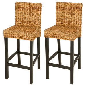 vidaXL Bar Stools, Brown, Set of 2