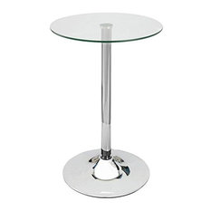 Elegant Contemporary Glass Top Bar Table by Anzy