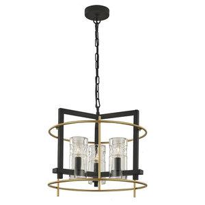 Bistro Antique Iron 3-Light Ceiling Pendant, Matte Gold Detail