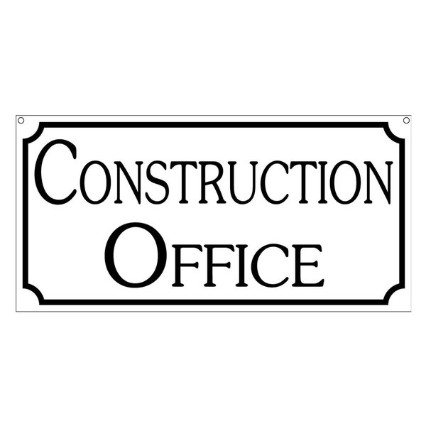 Construction Office, Aluminum Retro Vintage Business Sign, 6