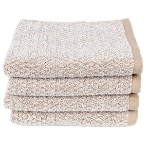 Everplush Diamond Jacquard Hand Towel, Set of 4, Caramel Brown