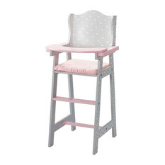 Olivia's Little World Baby Doll High Chair in Gray