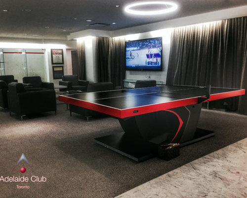 Man Cave With High End Ping Pong Table