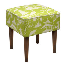 123 creations chinoiserie modern vanity stool chartreuse green vanity stools and benches