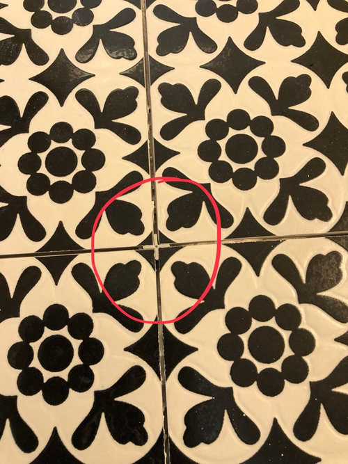 What Color Grout For Black And White