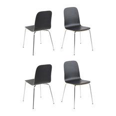 Bjoorn Dining Chair, Set of 4, Black