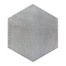 Langston Hexagon Dark Gray Matte Porcelain Tile Sample
