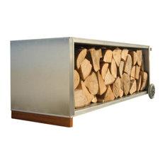 Firewood Trolley, Stainless Steel
