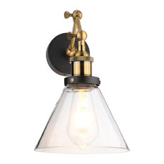 50 most popular swing arm wall lamps with a dimmer switch for 2018 brikk leta industrial clear glass wall light swing arm wall lamps aloadofball Image collections