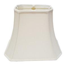 Royal Designs Rectangle Cut Corner Lamp Shade, Eggshell, 16x16x12.25
