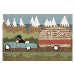 "Frontporch Camping Dog Mat, Green, 20""x30"""