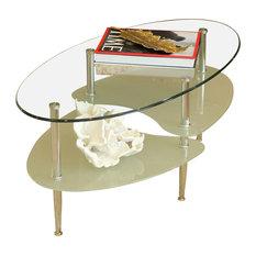 Walker Edison Walker Edison Glass Oval Coffee Table X 4b83c Coffee Tables