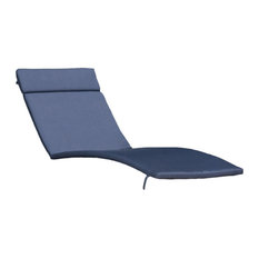 GDF Studio Soleil Outdoor Chaise Lounge Cushion, Navy Blue