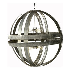 Atom Collection, Xl Cyclopean- Wine Barrel Double Ring Chandelier, 30""