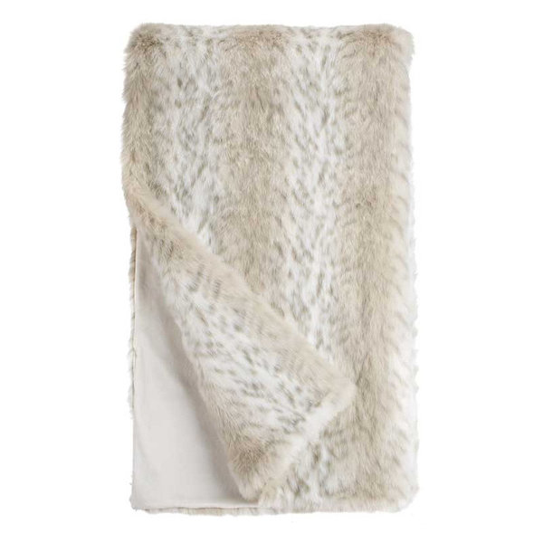 Lynx Faux Fur Throw Blanket by Fabulous Furs, 60