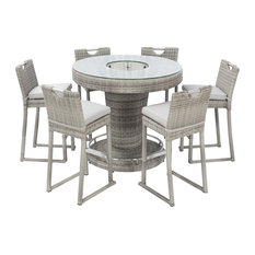 Oxford Outdoor Round Bar Set With Integrated Ice Bucket