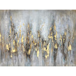 "IIC Art Inc. - ""Abstract Gleaming Gold"" Hand Painted Canvas Art - Hand-painted:100% hand-painted high quality oil paintings by professional artist. As each painting is 100% hand-painted, actual paintings may be slightly different from the product image due to different brand of monitors."