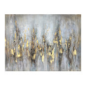 """""""Abstract Gleaming Gold"""" Hand Painted Canvas Art"""