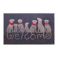 "Dog Tail Designer ""Welcome"" Rubber DoorMat"