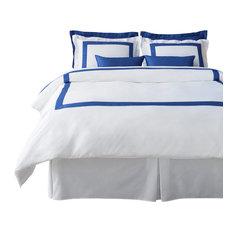 LaCozi Cotton Sateen Modern Boutique Hotel Collection Royal Blue Duvet Cover Set