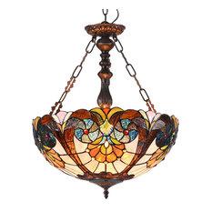 "Shea 2-Light Victorian Inverted Ceiling Pendant 18"""