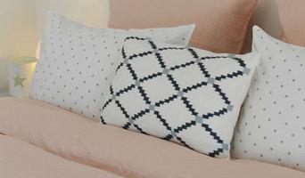 Parure de lit en lin lavé blush