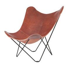 Cuero Design - Cuero Design Pampa Mariposa Chair, Oak, Black Frame, Indoor - Armchairs & Accent Chairs