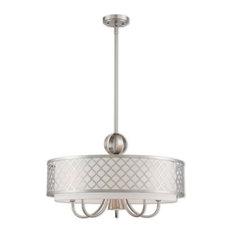 Livex Lighting Arabesque Light Pendant Chandelier, Brushed Nickel