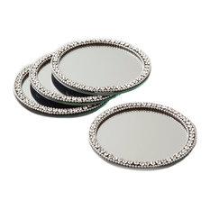 Elegance Brilliant Mirror Coasters, Set of 4