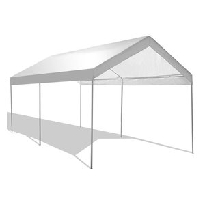 Abba Patio 10x20 Outdoor Carport With Steel Legs White Contemporary Canopies Tents By Appearances International