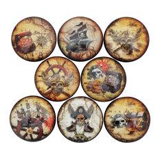 Pirate Cabinet Knobs, 8-Piece Set