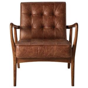 Brad Linen Armchair, Vintage Brown