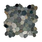 "12""x12"" Sliced Bali Ocean Pebble Tile"
